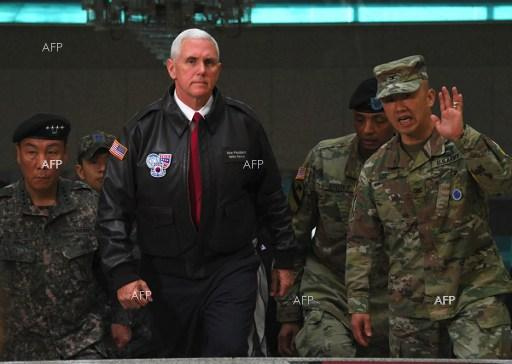 Pence sends warning to N. Korea aboard USS Ronald Reagan in Japan
