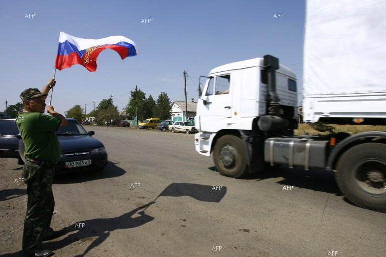 200 Russian aid trucks cross Russian - Ukrainian border