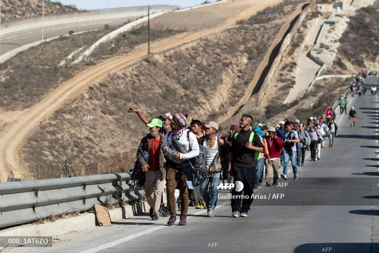 A caravan of migrants. Mexico. November 14, 2018;
