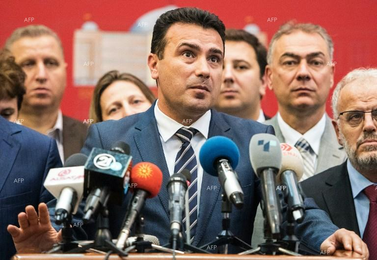 Zoran Zaev after vote in Macedonia Parliament. October 21, 2018;