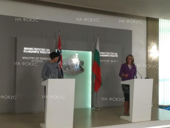 Minister Ekaterina Zaharieva: The visit of the Norwegian foreign minister to Bulgaria will boost our economic relations