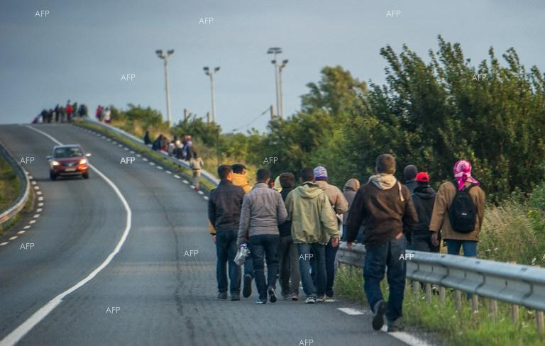 Migrant crisis in Calais, France.