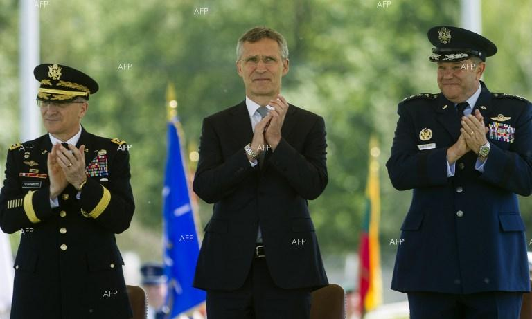 Curtis Scaparrotti, Jens Stoltenberg, and Philip Breedlove. Curtis Scaparrotti is the new NATO Supreme Allied Commander Europe.