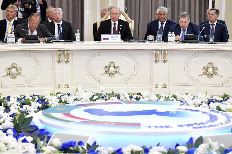 A summit of the countries on the Caspian Sea, Aktau. August 12, 2018;