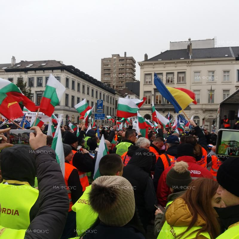 Hauliers protesting in Brussels. January 10, 2019;
