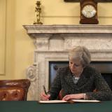 Reuters: British PM May signs Brexit letter to EU