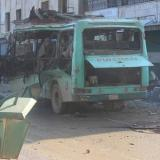 Picture: IHAAFP: Bomb blast in a bus kills 3 civilians in Syria's Afrin: monitor