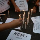 China MH370 families protest at Malaysia embassy