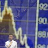 Stocks fall on weak eurozone data