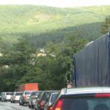 Bulgaria's E-79 man road blocked in the section from Kulata border crossing to the village of Marino Pole