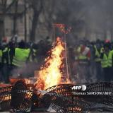 AFP: France's 'yellow vest' protests lose momentum on decisive weekend