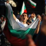Protesters gather in front of Bulgaria's President's Office