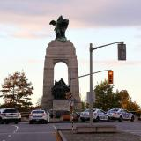 Man arrested at war monument as PM laid flowers