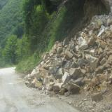 Traffic along Bulgaria's I-1 road temporarily restricted over landslide