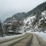 20cm snow-cover on Batak-Dospat road