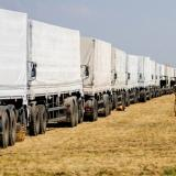 Russian convoy with humanitarian aid arrives at Ukraine border