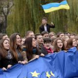 200 protesters stage a rally at Kyiv's central square