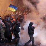 Around 5,000 people gather in downtown Kiev