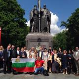 Bulgarians in Moscow marked May 24 at Saints Cyril and Methodius monument
