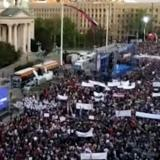 Picture: 24 Вести, МакедонияАFP: Thousands rally in support of Serbian president