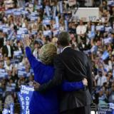 AFP: Clinton joins Obama on convention stage