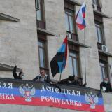 Part of protesters in front of Donetsk administration paid: official