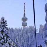10 cm snow-cover at Bulgaria's Pamporovo
