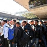 Hungarian train with 300-400 migrants stopped at Austrian border