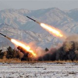 N. Korea fires 18 rockets into sea