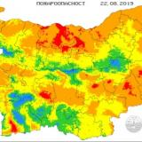 NIMH: Extreme fire danger rating in place for parts of 14 Bulgarian regions