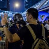 Eight arrested as Hong Kong police pepper spray protesters