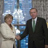 Picture: AFPAA: Recep Erdogan and Angela Merkel discuss Syria over phone