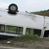 Microbus carrying Romanian nationals rollover in Italy
