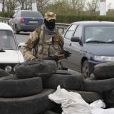 Pro-Russian activists still block airbase in Kramatorsk