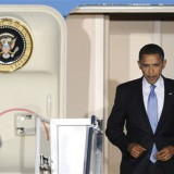 Obama arrives at Hiroshima atomic bomb park
