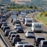 Traffic jam along Bulgaria's Trakiya motorway looms larger