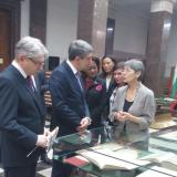 Bulgaria president attended special exhibition at national library
