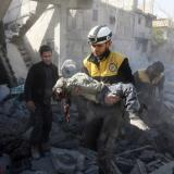 Picture: AFPAFP: Russia blamed as key clinic in Syria enclave bombed out of service