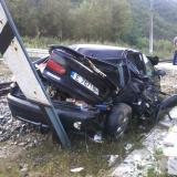 Train runs over a car in Bulgaria's Kresna