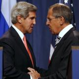 Sergey Lavrov and John Kerry hold bilateral meeting before talks in Geneva