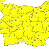 Yellow warning for strong winds in place for the whole country
