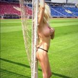 Sandra Partizan shows her breasts naked against Ludogorets (ROUNDUP)