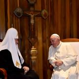 Pope, Russian patriarch kiss at historic meeting: AFP