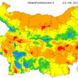 Picture: НИМХNIMH: Extreme fire danger rating in place for parts of 13 Bulgarian regions