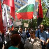 Around 60 supporters of NFSB, VMRO gathered for a protest against electricity price hike in Sofia