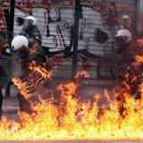 Picture: AFPKathimerini: Anarchists attack police station in central Athens, injuring four