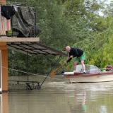After floods devastated his house, how one determined homeowner lifted the whole building nearly 5ft up in the air... furniture and all