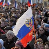 Pro-Russia rally in Kharkiv ends with march
