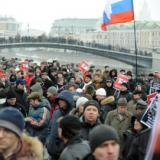 Moscow marchers condemn Kremlin role in Ukraine war