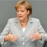Merkel calls anti-euro party success a 'protest vote'